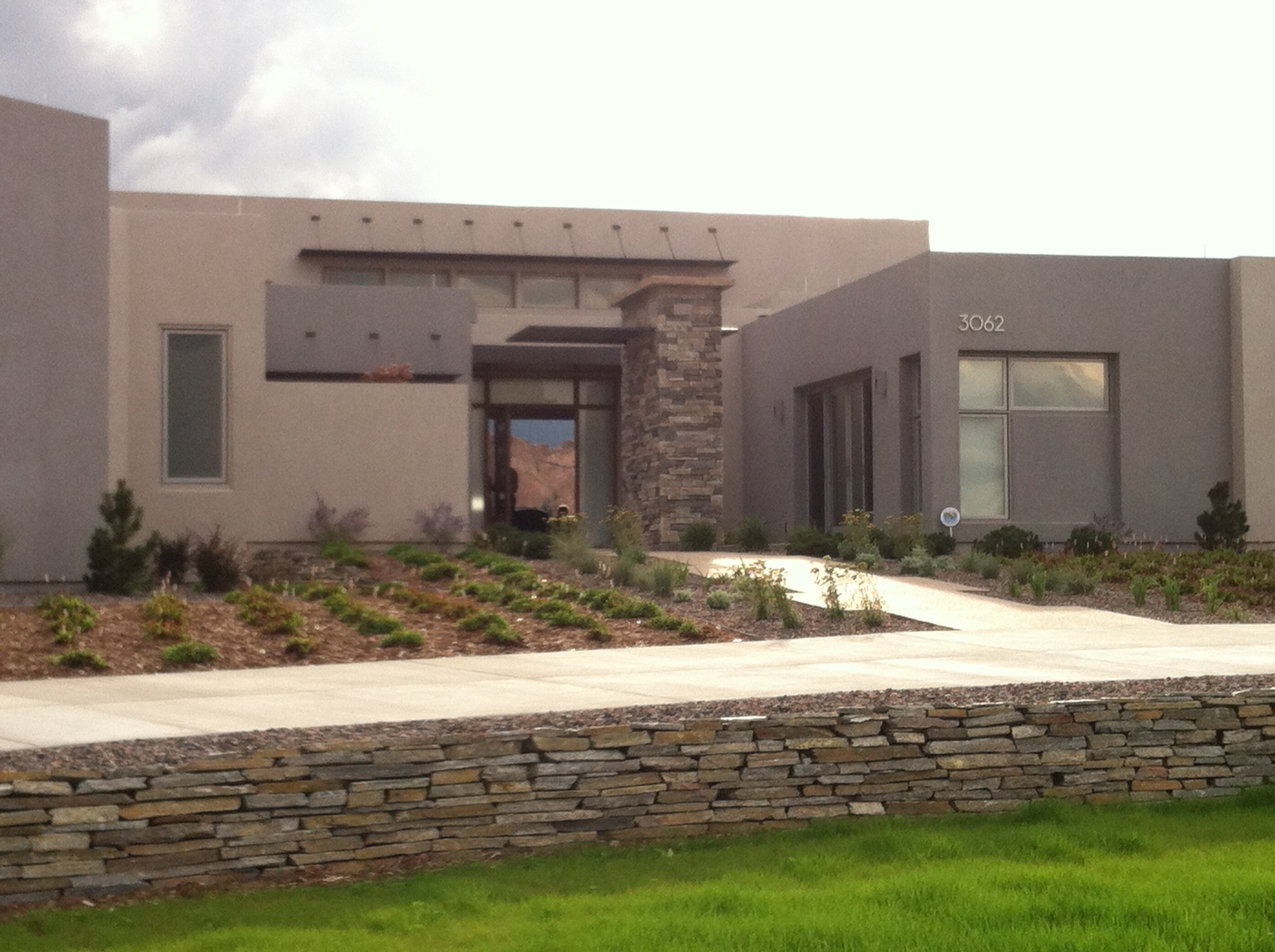 LGA Studios Wildfire Resilient Homes Xeriscape Stucco