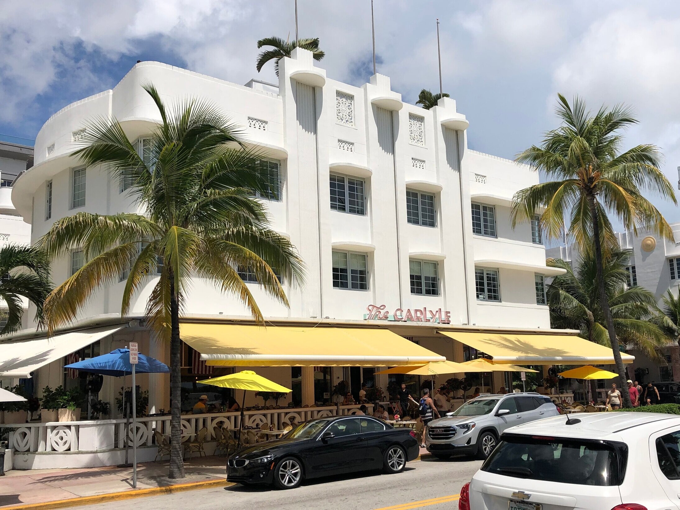 Finished in 1941, The Carlyle is quintessential Miami Beach deco. Its iconic facade is a beautiful example of the Art Deco rule of thirds, and it's been the backdrop for many classic Miami-based films including  Scarface ,  The Birdcage , and  Bad Boys .