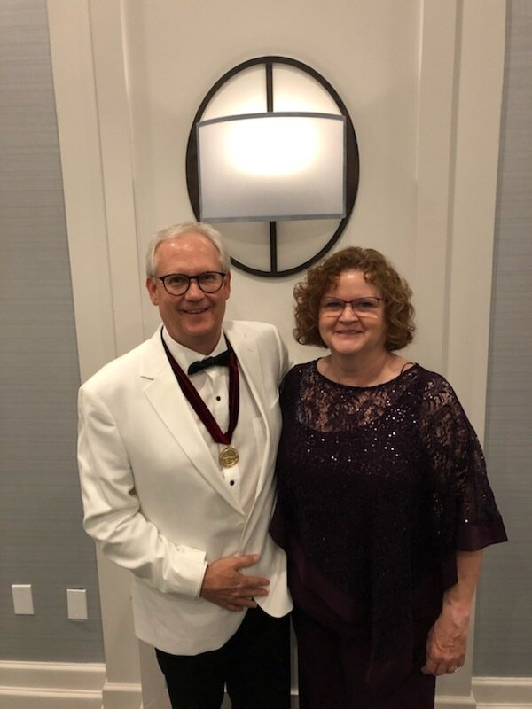 Larry and Mary Gilland at the 2019 AIBD Convention