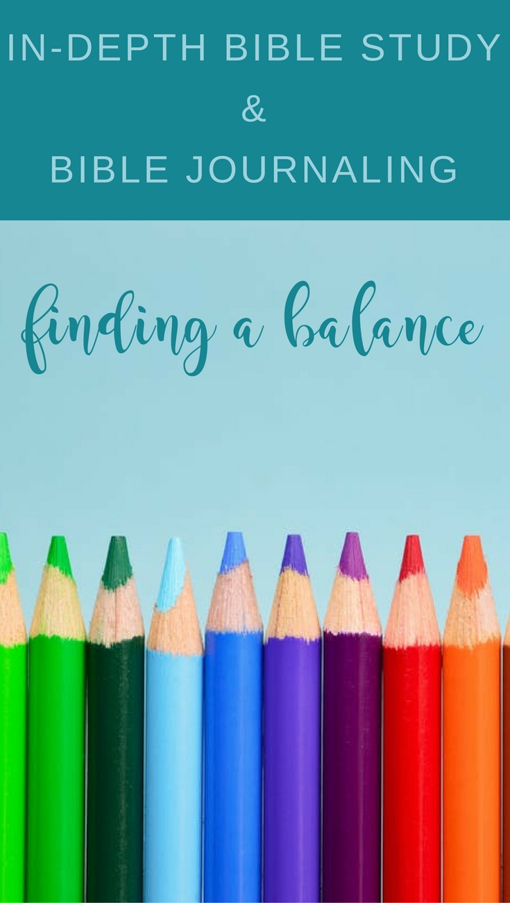 What is a better use of my time: In-depth Bible study or Bible journaling? This article has great insight into how to find a balance and do both. | Scripture Confident Living