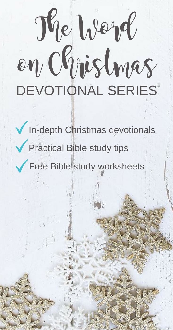 Wow, a devotional series that digs deep, teaches Bible study tips, and gives you free Bible worksheets. Get on board and learn how the Bible builds anticipation for Jesus' birth.