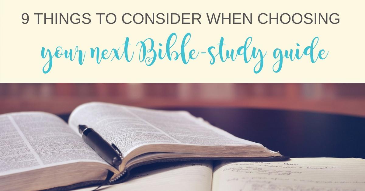 choosing-a-bible-study-guide