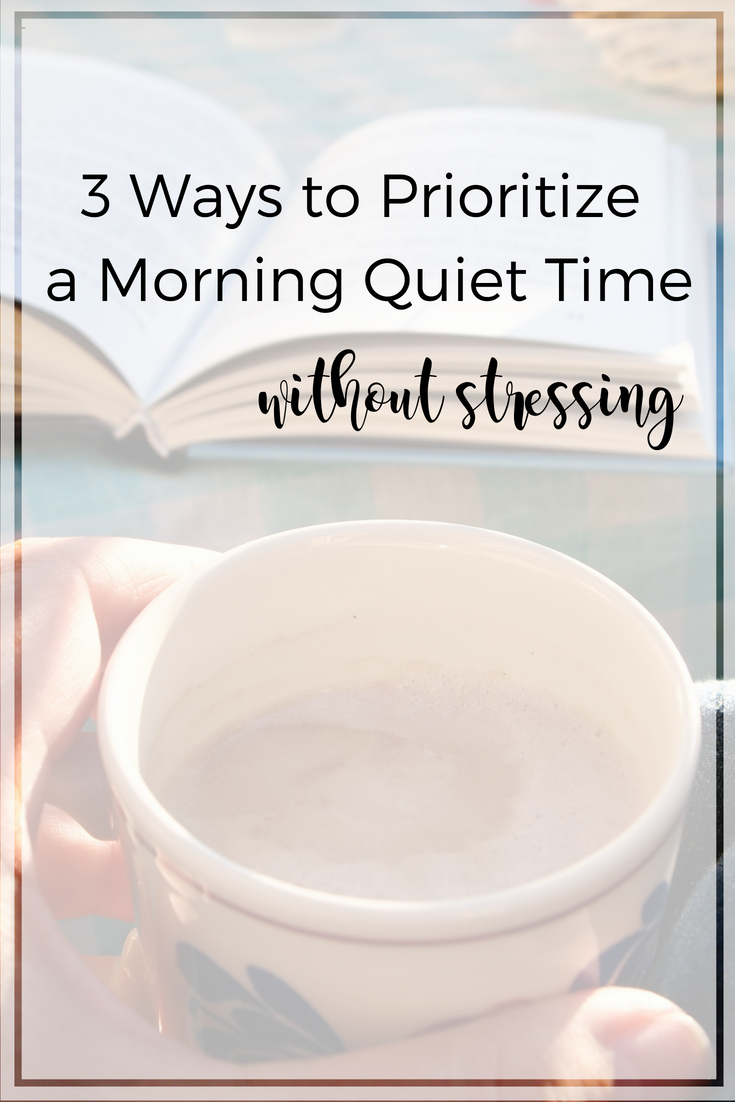 Do you long for a peaceful morning quit time - just you, your Bible, and Jesus! Make it happen with these 3 practical tips and more. | Scripture Confident Living