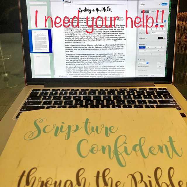 "When you build a solid habit of studying Scripture regularly, even stress and a busy schedule won't shake you that easily. But that's easier said and done.  I am revising and expanding my ""Scripture Confident through the Bible"" workbook and would love for you to weigh in. I may even mention your tip in the book.  How did you set up your Bible study habit? What helped you succeed? OR if you are still struggling to make this habit stick, what's gotten in your way?  Thanks bunches for your input! #biblestudy #buildinghabits #dailyquiettime #readyourbible #biblestudyguide #scripturestudy #butfirstjesus #understandingthebible #habitbuilding #christianwomen #womenofgod #scriptureconfident"