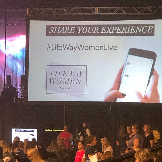Excited to worship Jesus with so many other ladies at #lifewaywomenlive