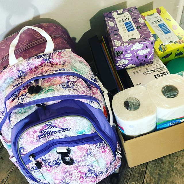 Who else has kids going back to school very soon?  I feel oddly accomplished having all their supplies ready to bring to their new teacher next week. In reality, I just knew this week would be busy and decided to shop last weekend. Have you done your back to school shopping yet?  #backtoschool #backtoschoolshopping #shoppingdone✔️ #momofschoolagers