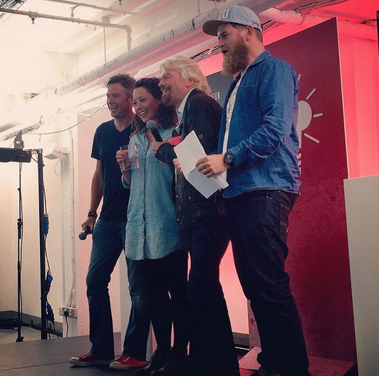 Pip and Richard Branson and Paul Lindley