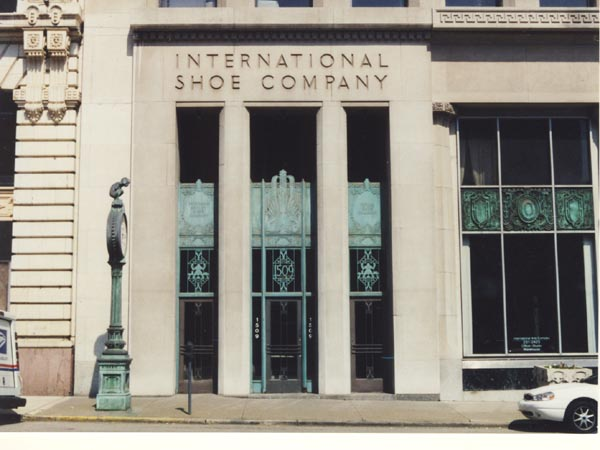 Williams worked at the International Shoe Company, where his father was an executive.