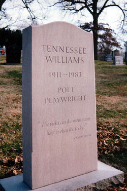 Williams' gravesite at Calvary Cemetery in St. Louis