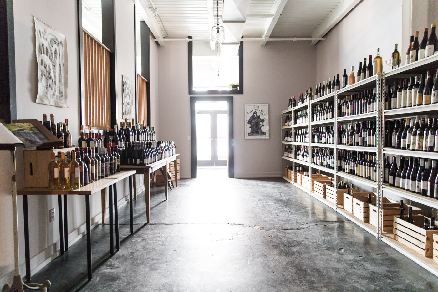 Our retail wine shop, Maine & Loire - The shop is located inside Drifters Wife and is now open 7 days a week!
