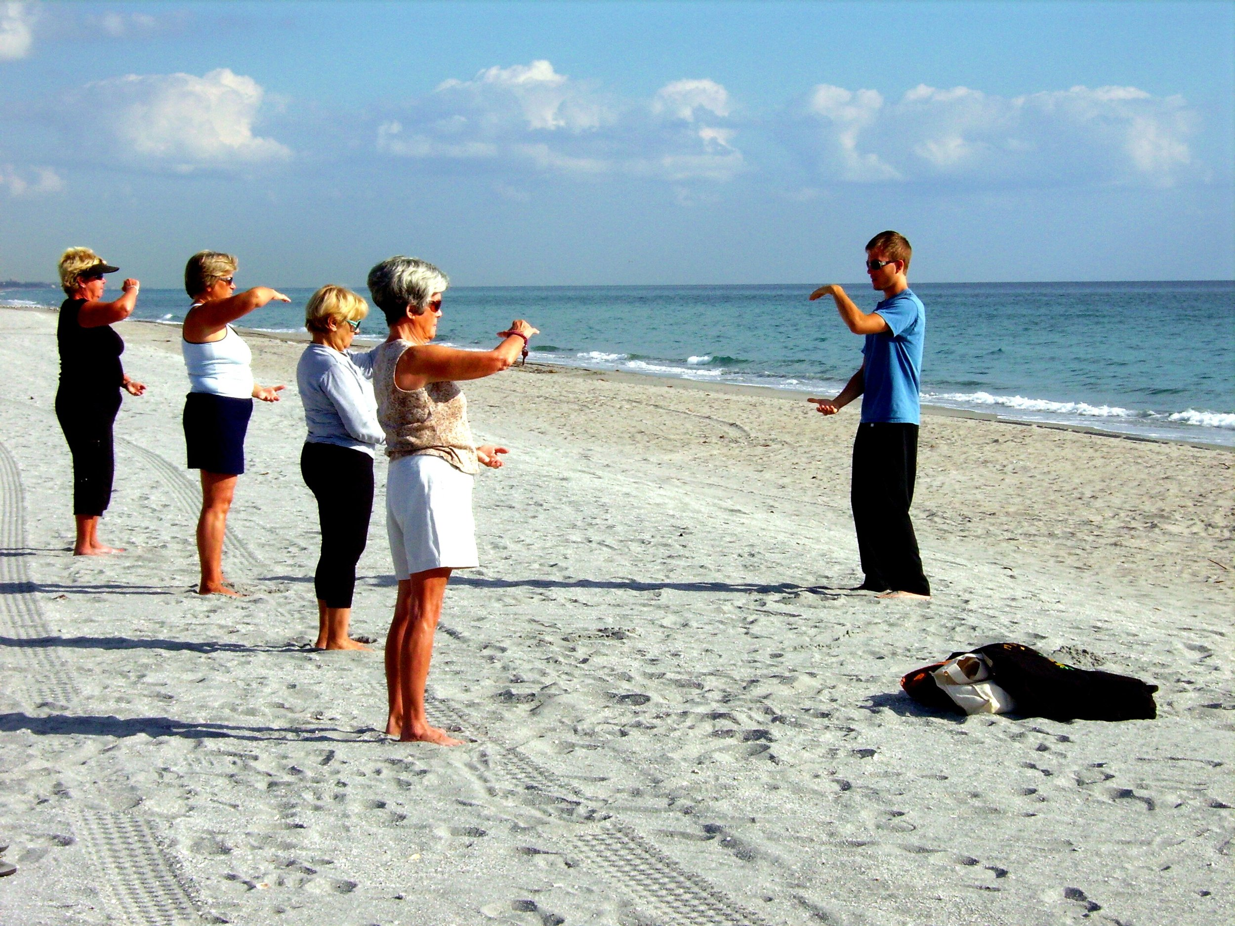 Sifu Falko teaching a class in Florida