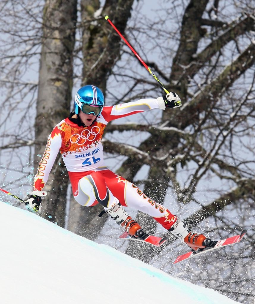 Olympic Giant Slalom Race. Sochi 2014
