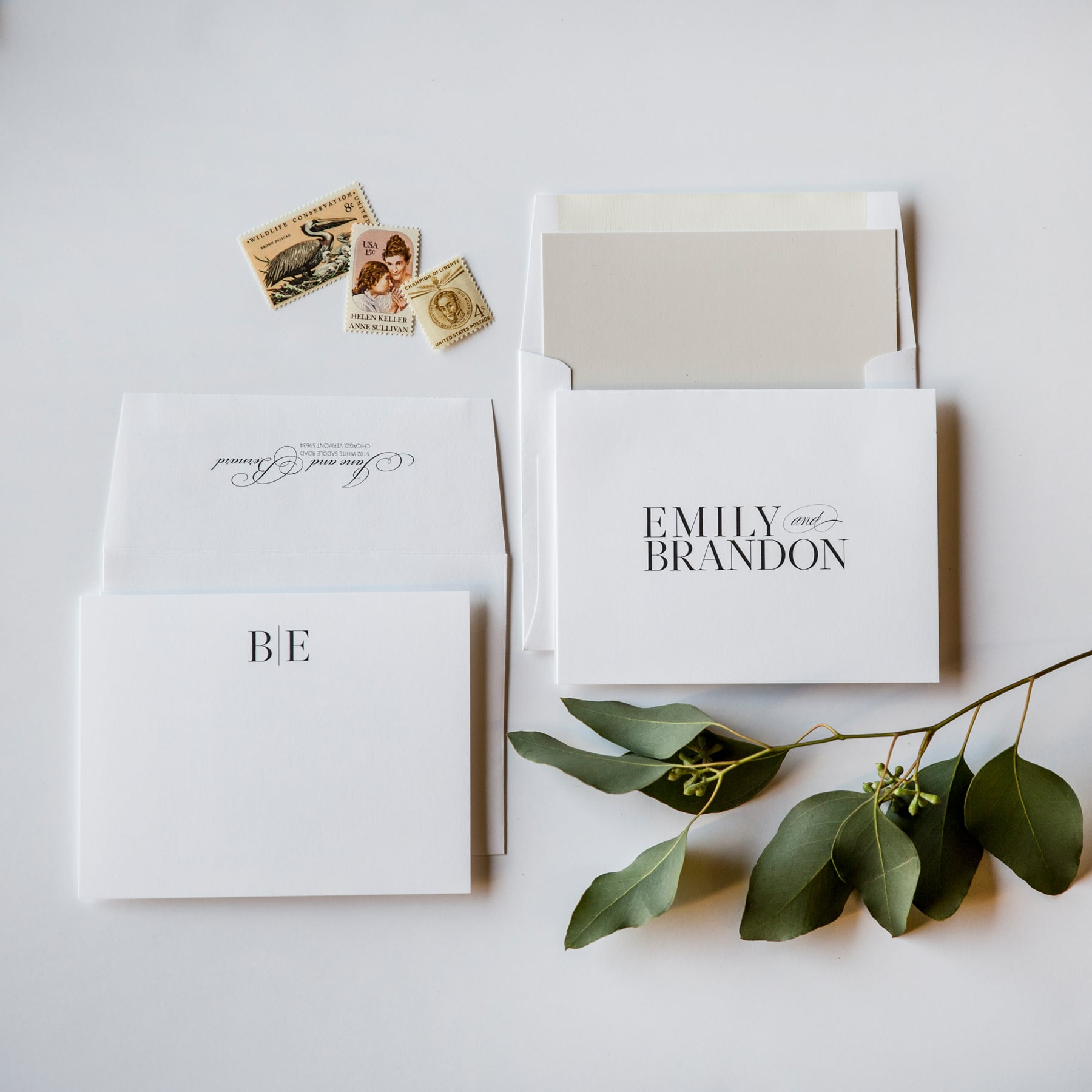 Champagne Press Couple's Stationery