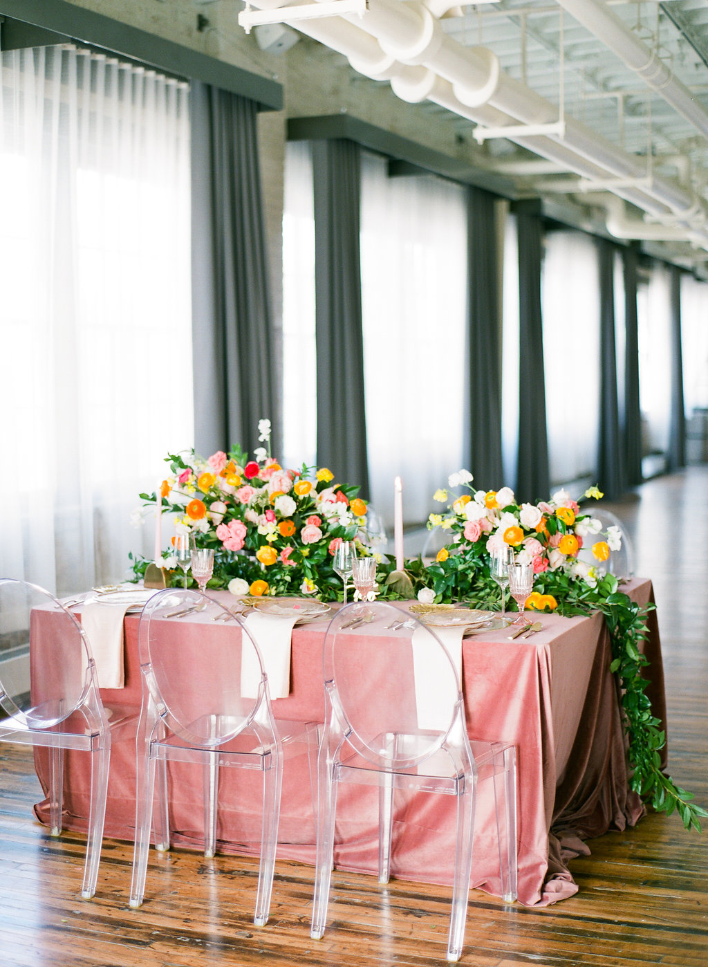 Blush and Gold Tablescape