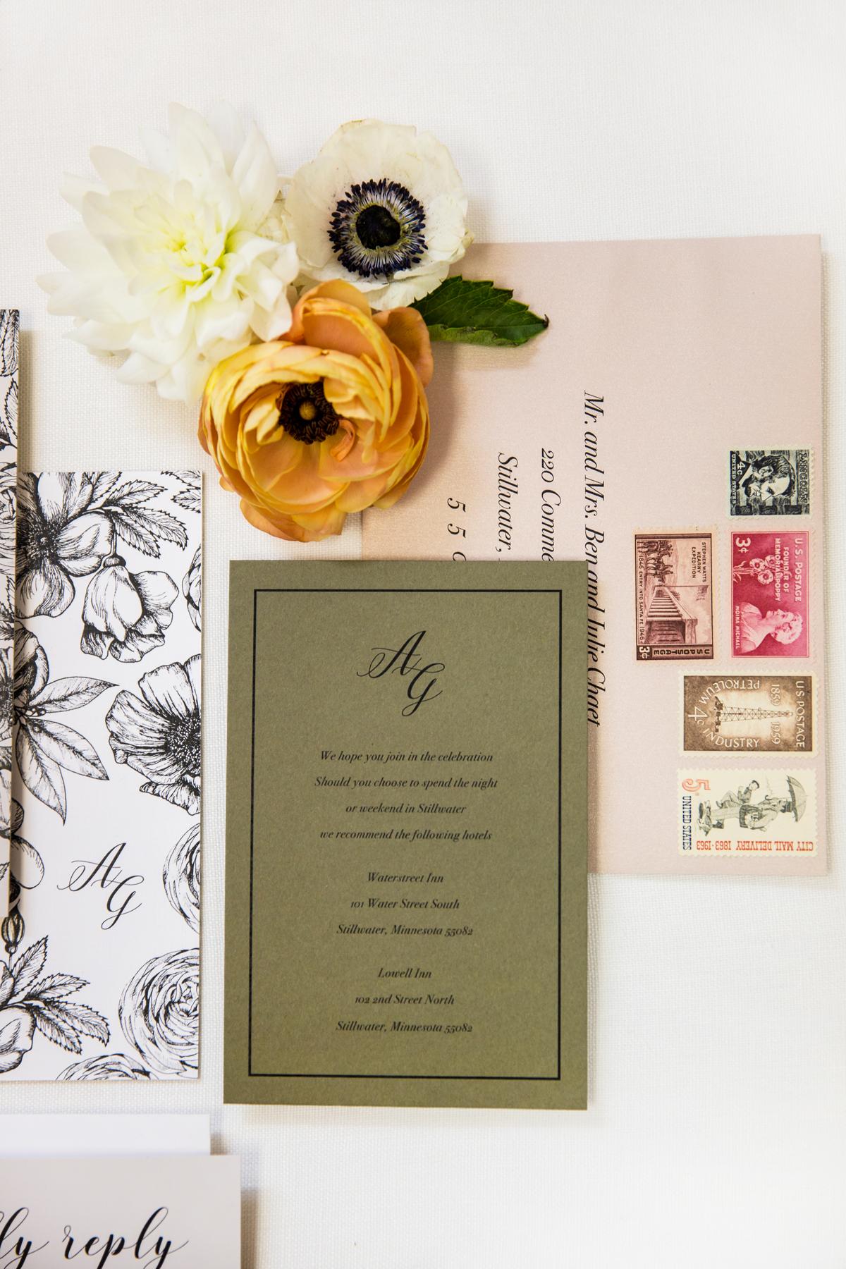 Champagne Press Wedding Invitation Suite