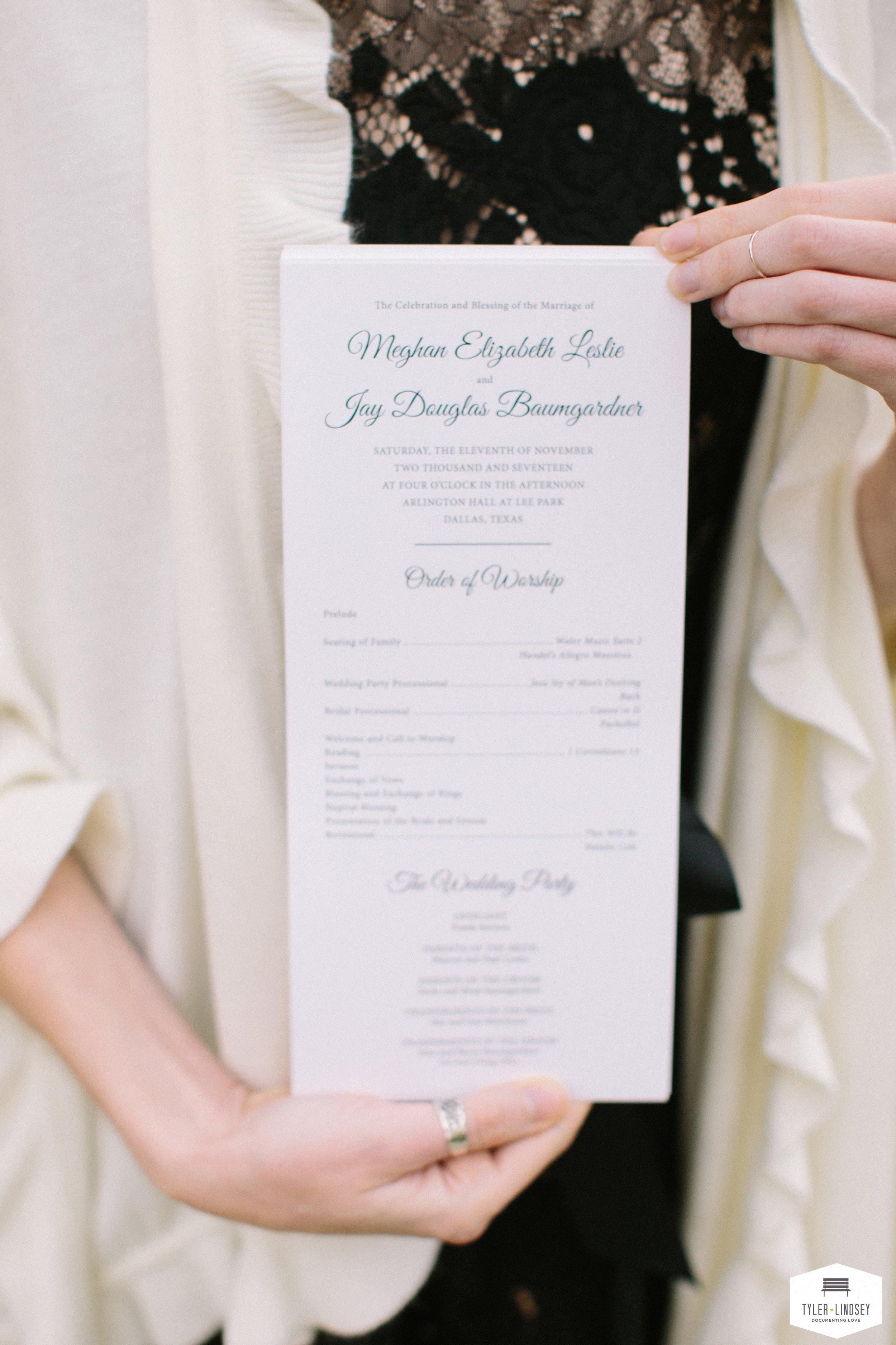 Champagne Press Custom Wedding Programjpg