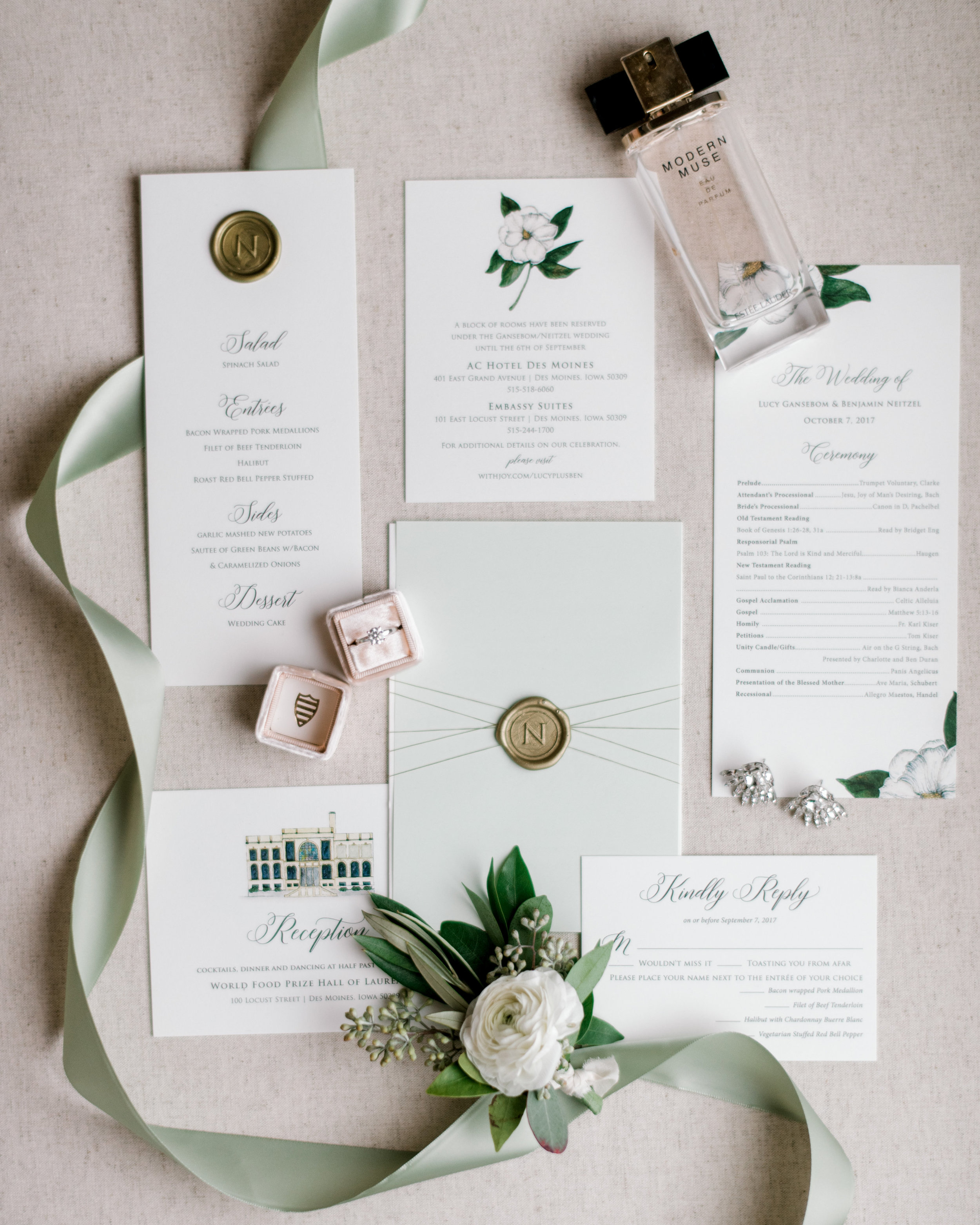 Champagne Press Wedding Invitations