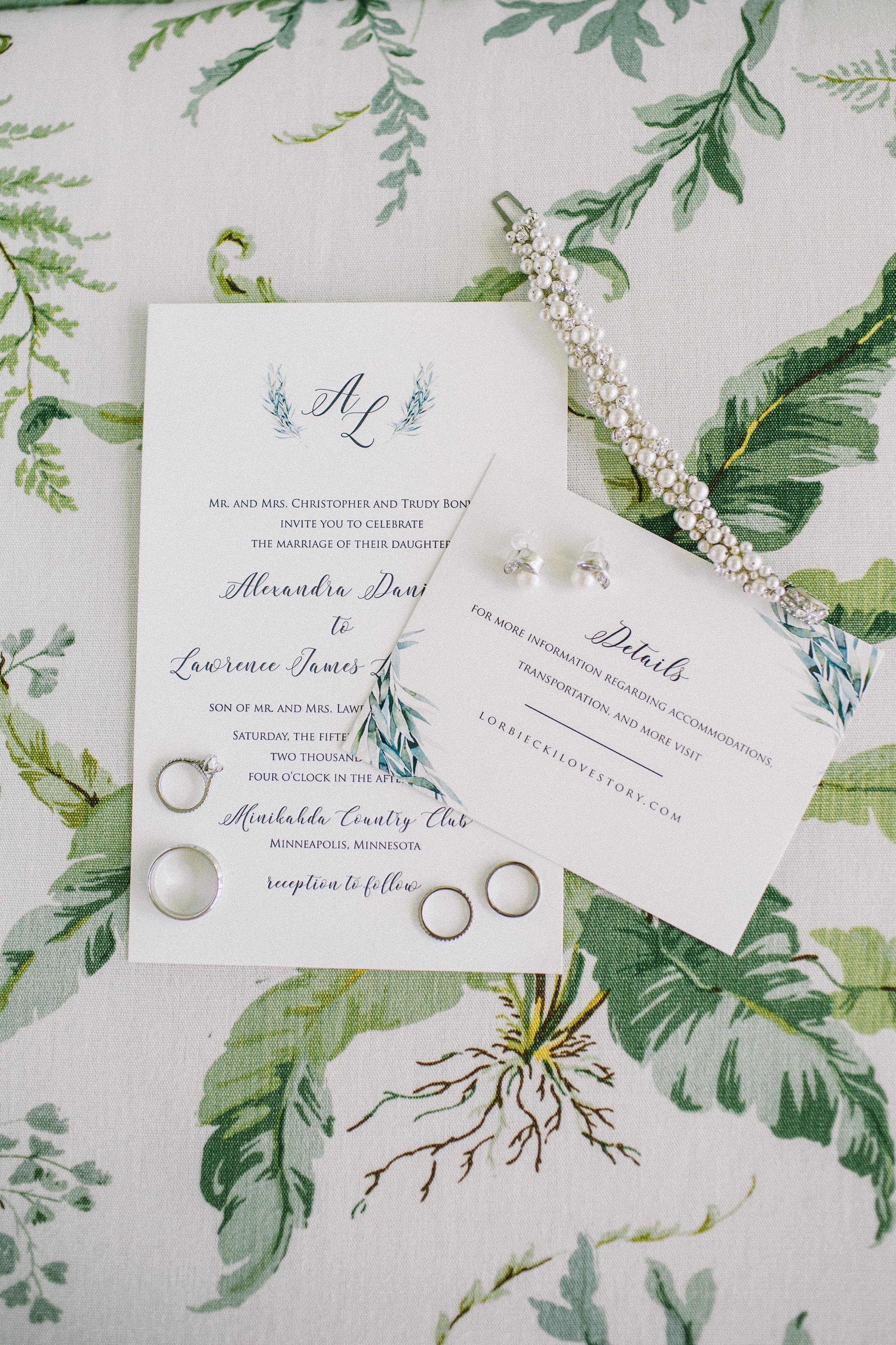Champagne Press Custom Wedding Invitation Jaimee Morse Photography