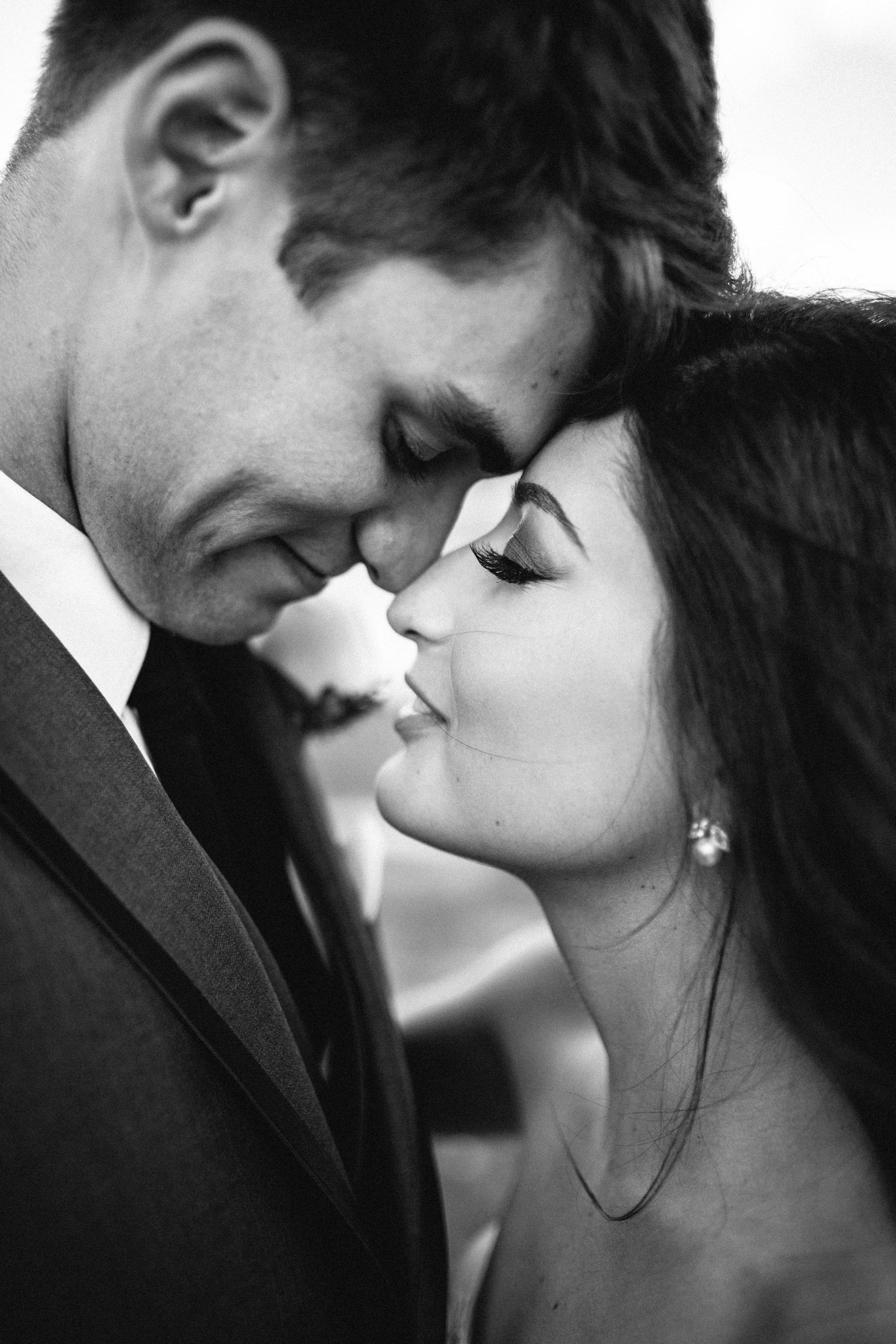 Black and White Wedding Portrait Jaimee Morse Photography