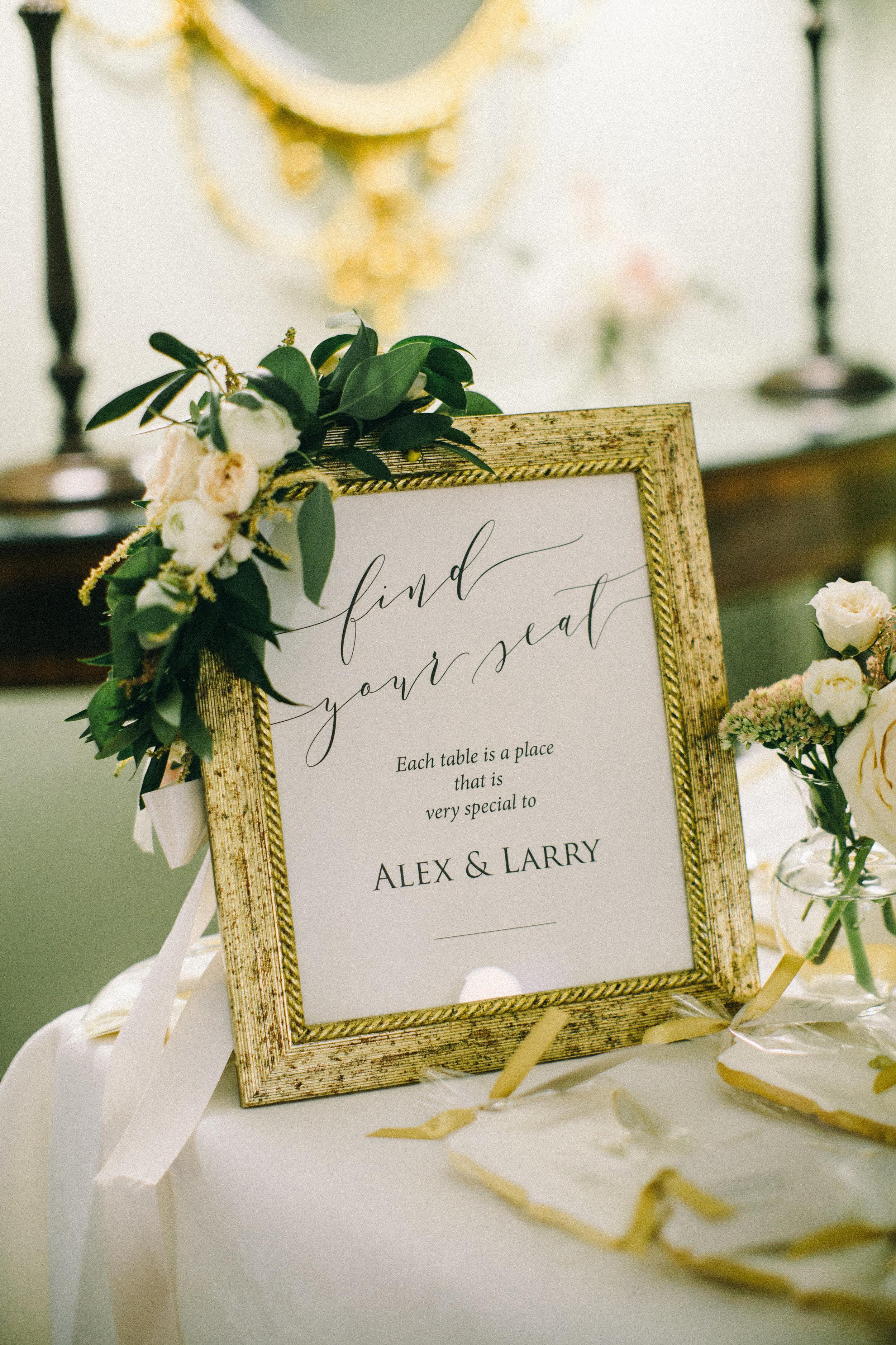 Champagne Press Wedding Invitations Custom Signage Jaimee Morse Photography