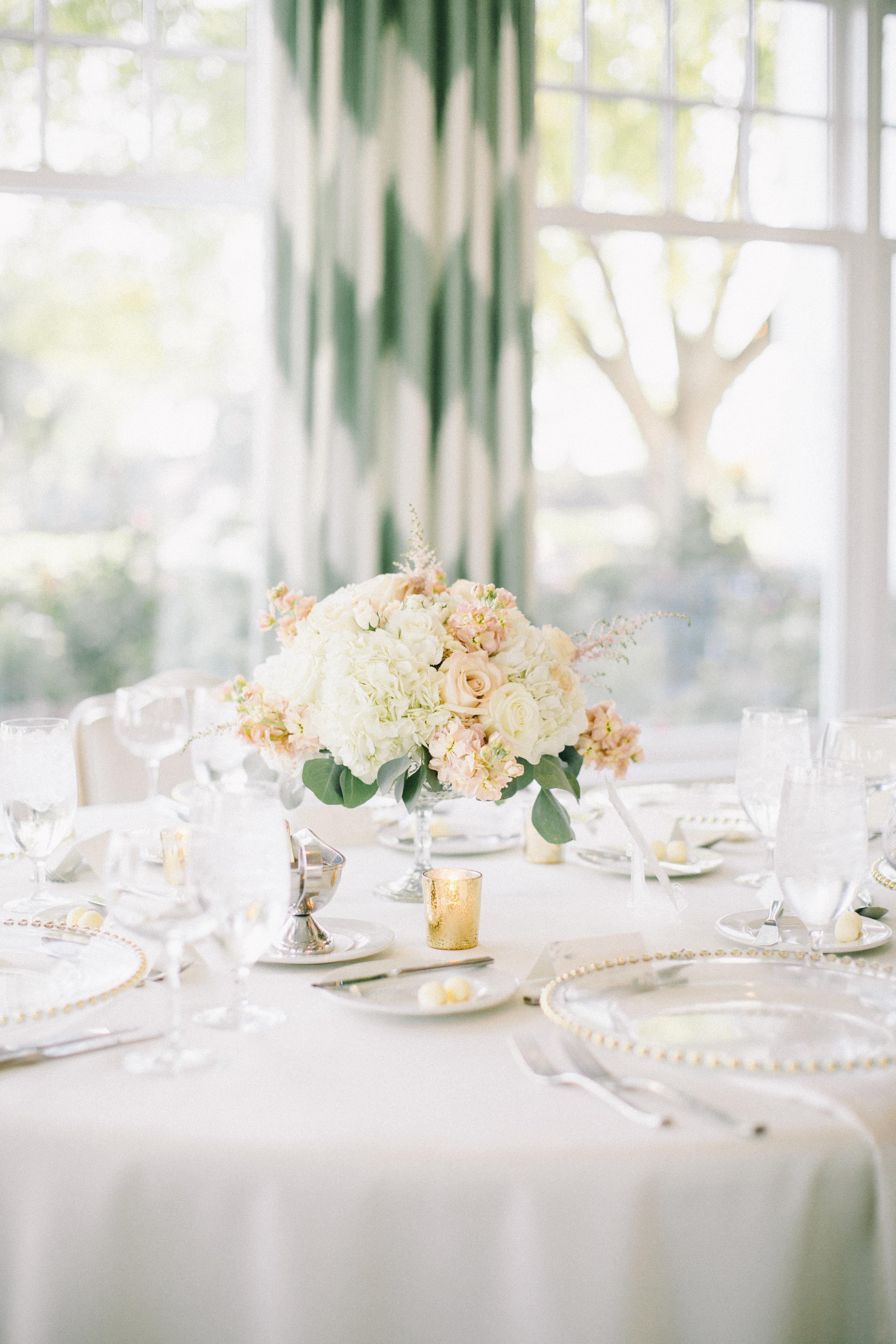 Classic Wedding Centerpiece Jaimee Morse Photography