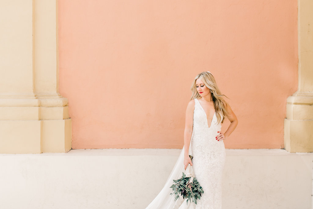 Bride Portrait Living Coral 2019 Pantone Vienna Glenn Wedding Photography