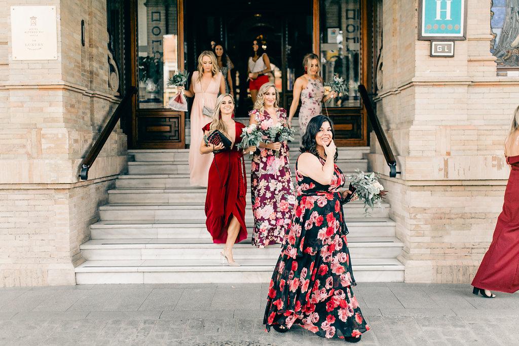 Mismatched Bridesmaids Vienna Glenn Wedding Photography