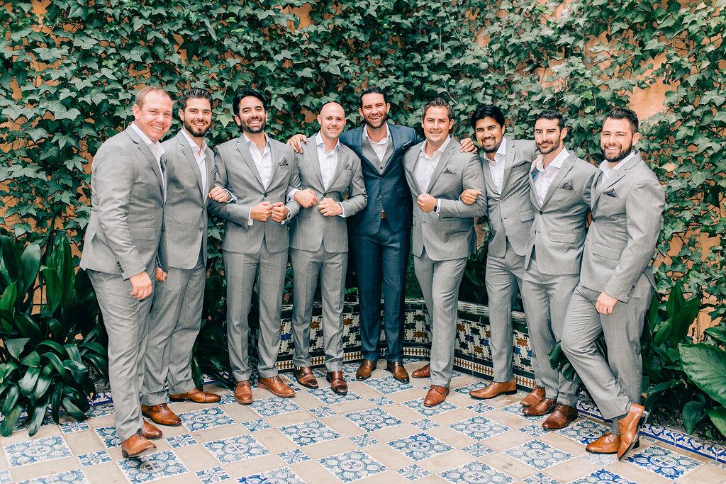 Groomsmen Spain Luxury Wedding Vienna Glenn Photography