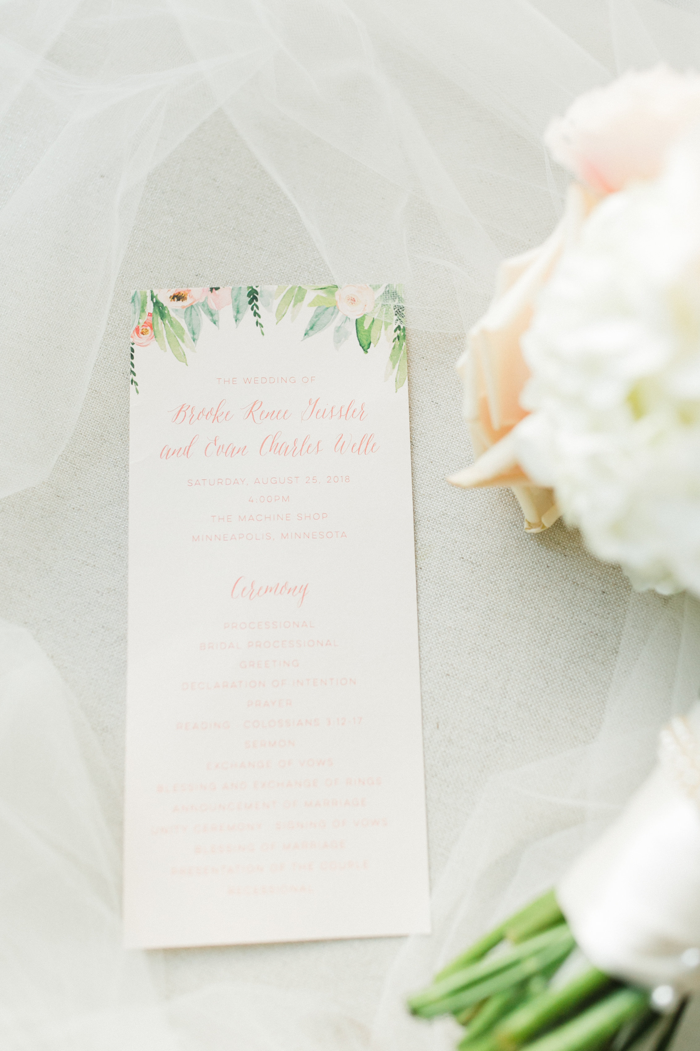Champagne Press Custom Wedding Program