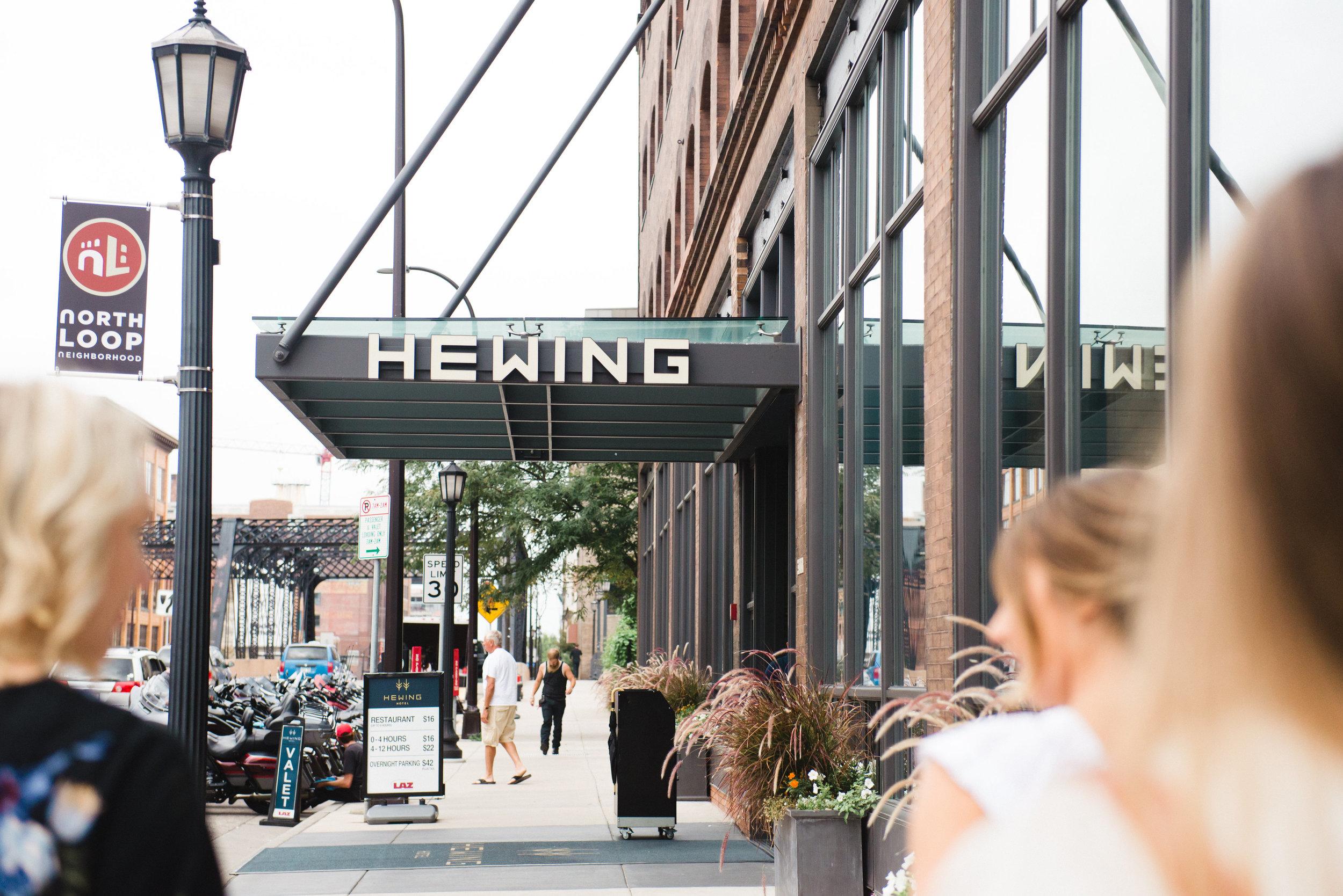Hewing Hotel Champagne Press Custom Wedding Invitations Real Wedding Blog