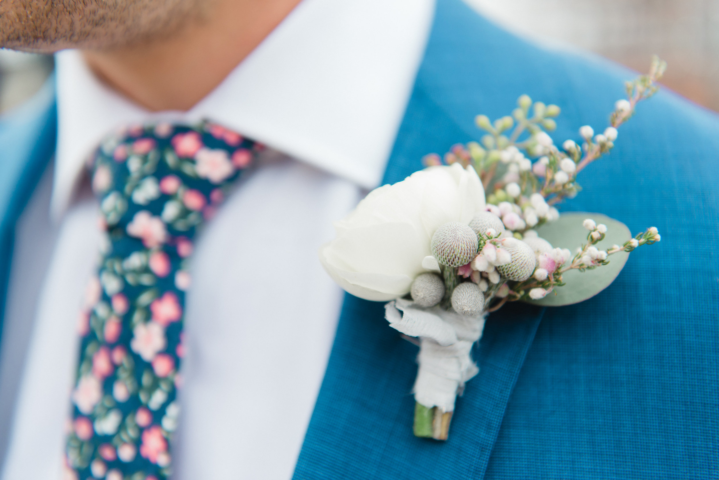 Kindred Blooms Boutonniere Luxury Machine Shop Minneapolis Wedding