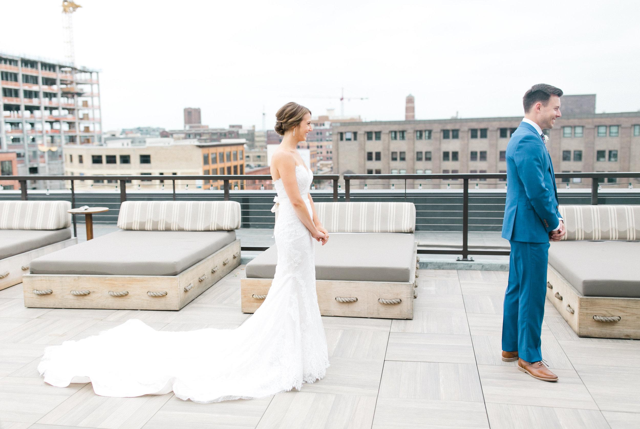 Luxury Wedding First Look Gina Zeidler Wedding Photography