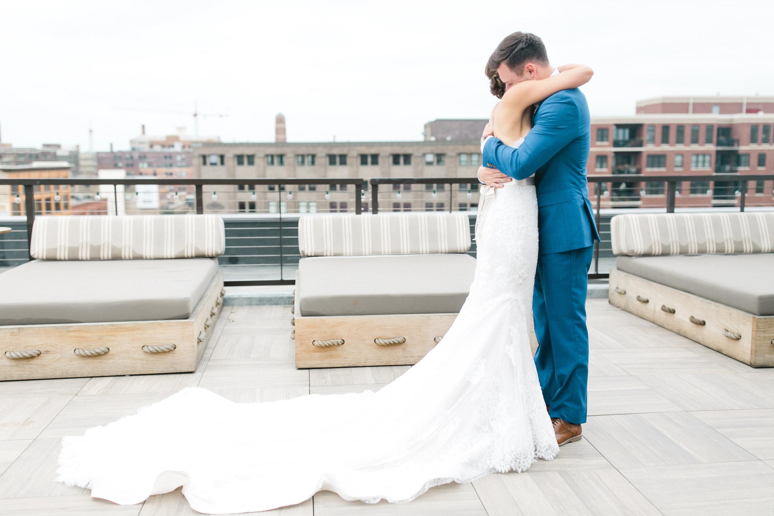 Luxury Wedding First Look Gina Zeidler Photography