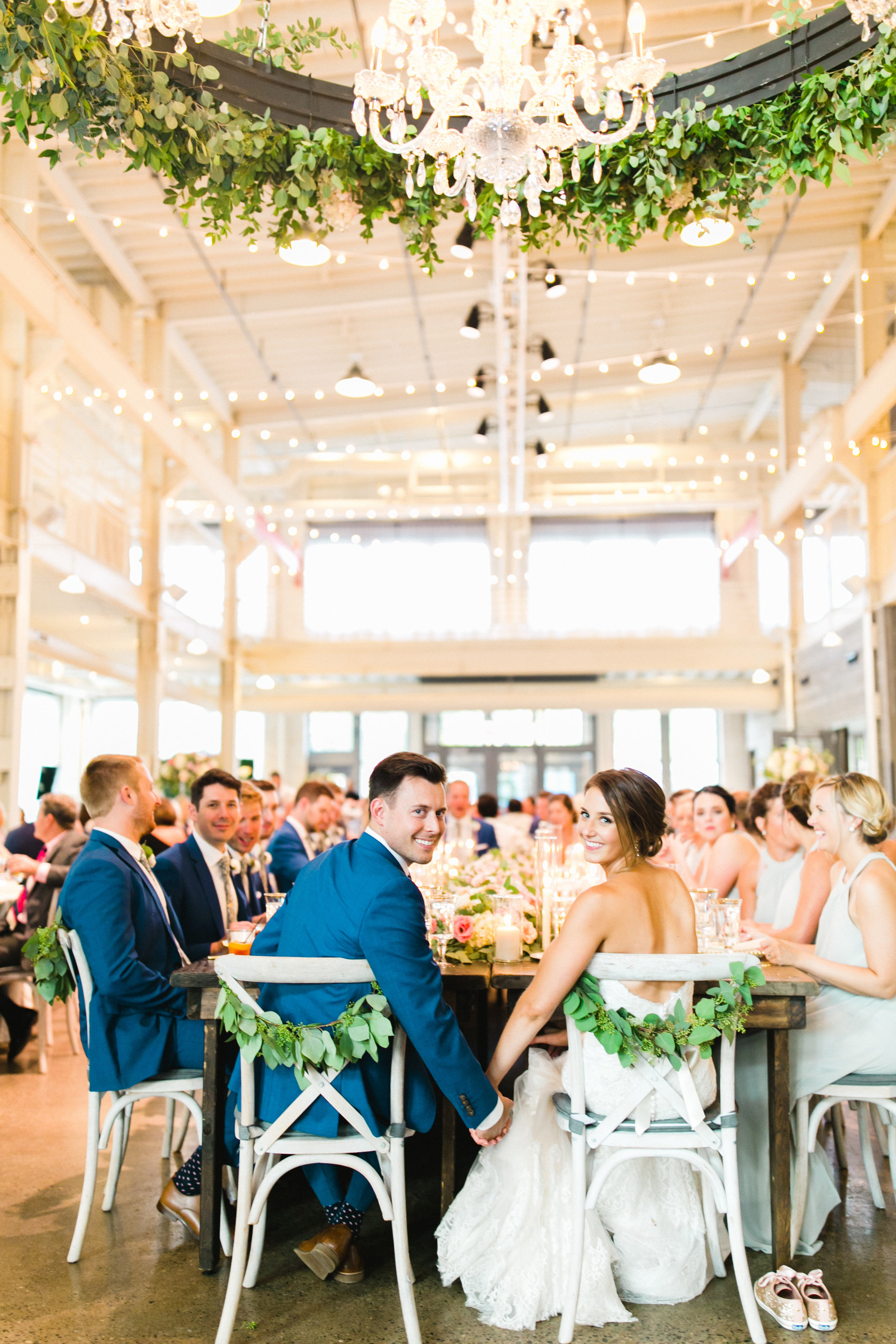 Luxury Machine Shop Wedding See Jane Plan Kindred Blooms Champagne Press Farina Baking Company Gina Zeidler Photography