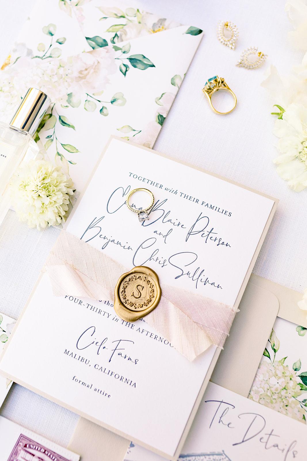 Champagne Press Custom Invitation Suite Natalie Schutt Photography