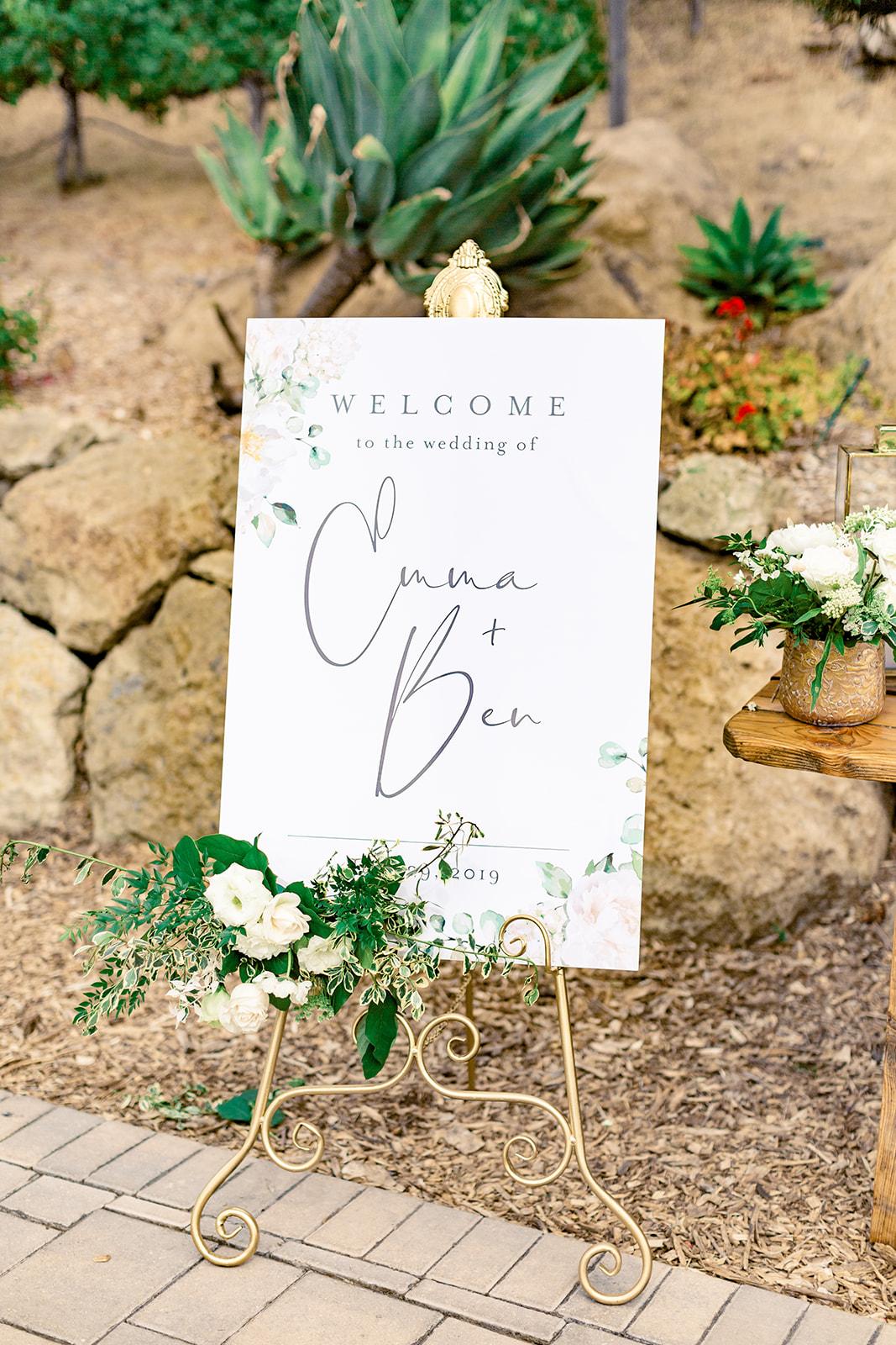 Champagne Press Wedding Welcome Sign - Natalie Schutt Photography.jpg