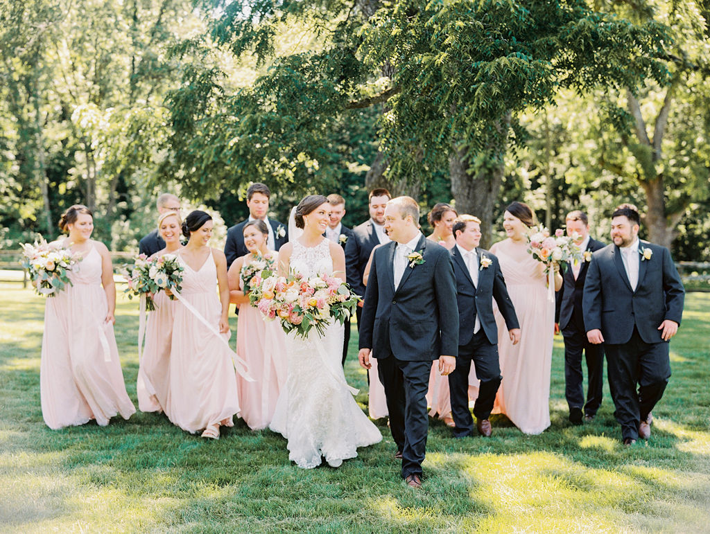 Ann + Casey's Style Me Pretty Wedding Feature Bridal Party