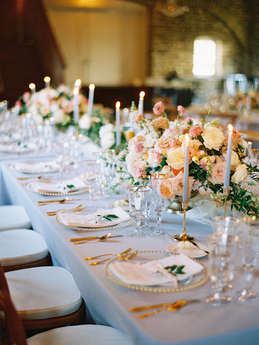 Luxury Wedding Tablescape from Ann and Casey's Style Me Pretty Wedding