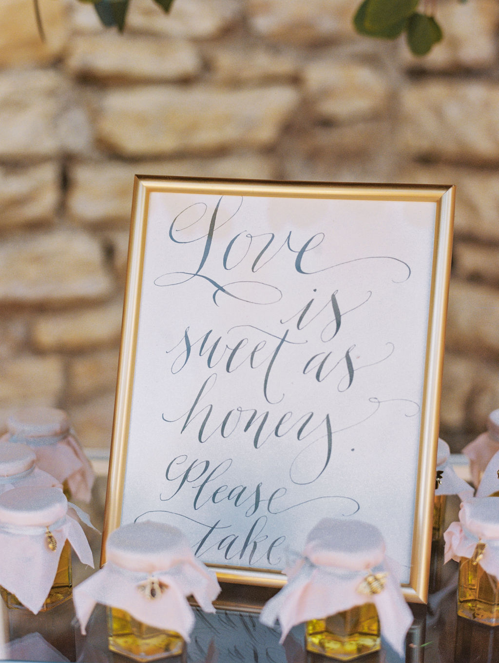 Calligraphy Favor Sign by Rosann Konieczny