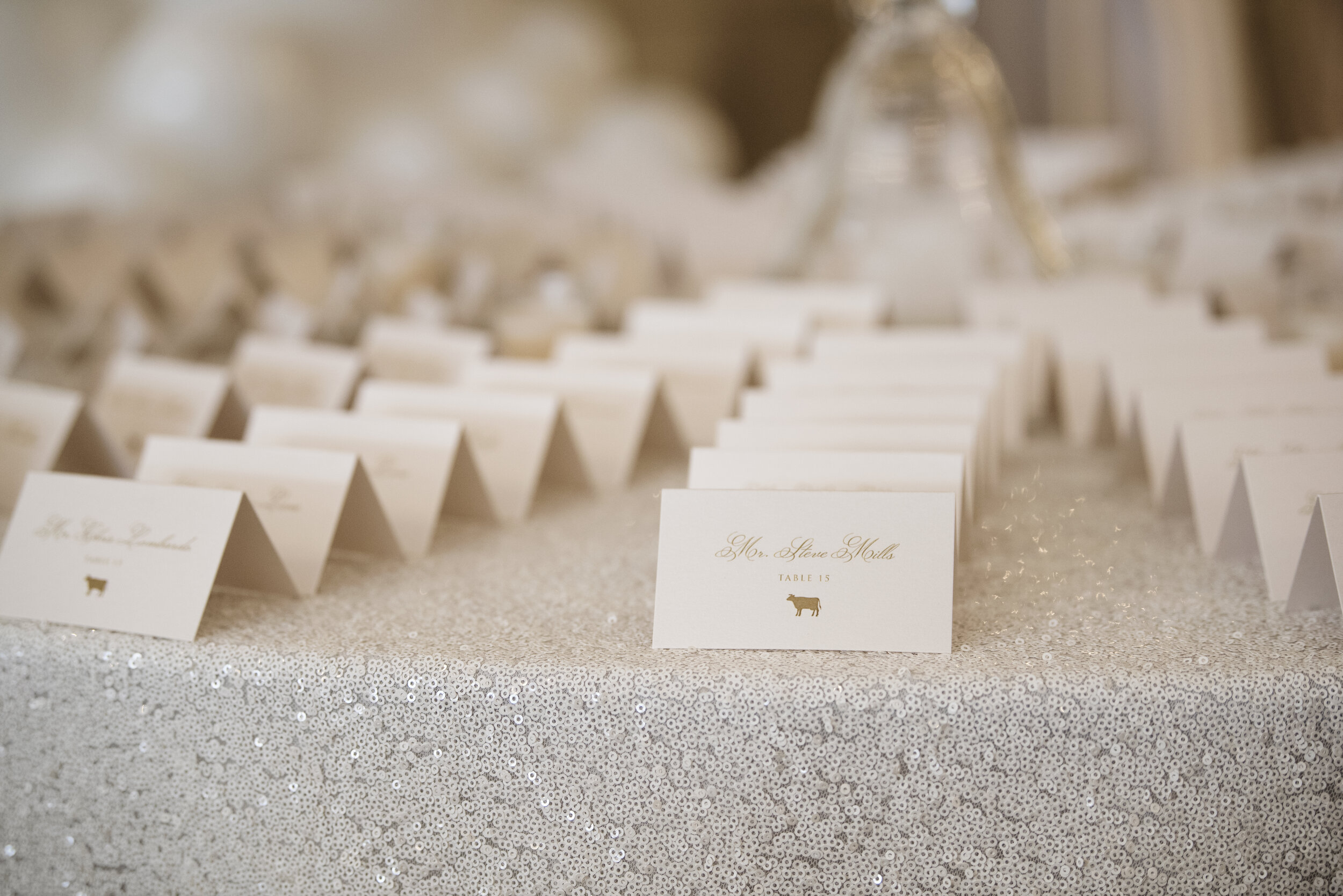 Escort Cards Luxury Wedding