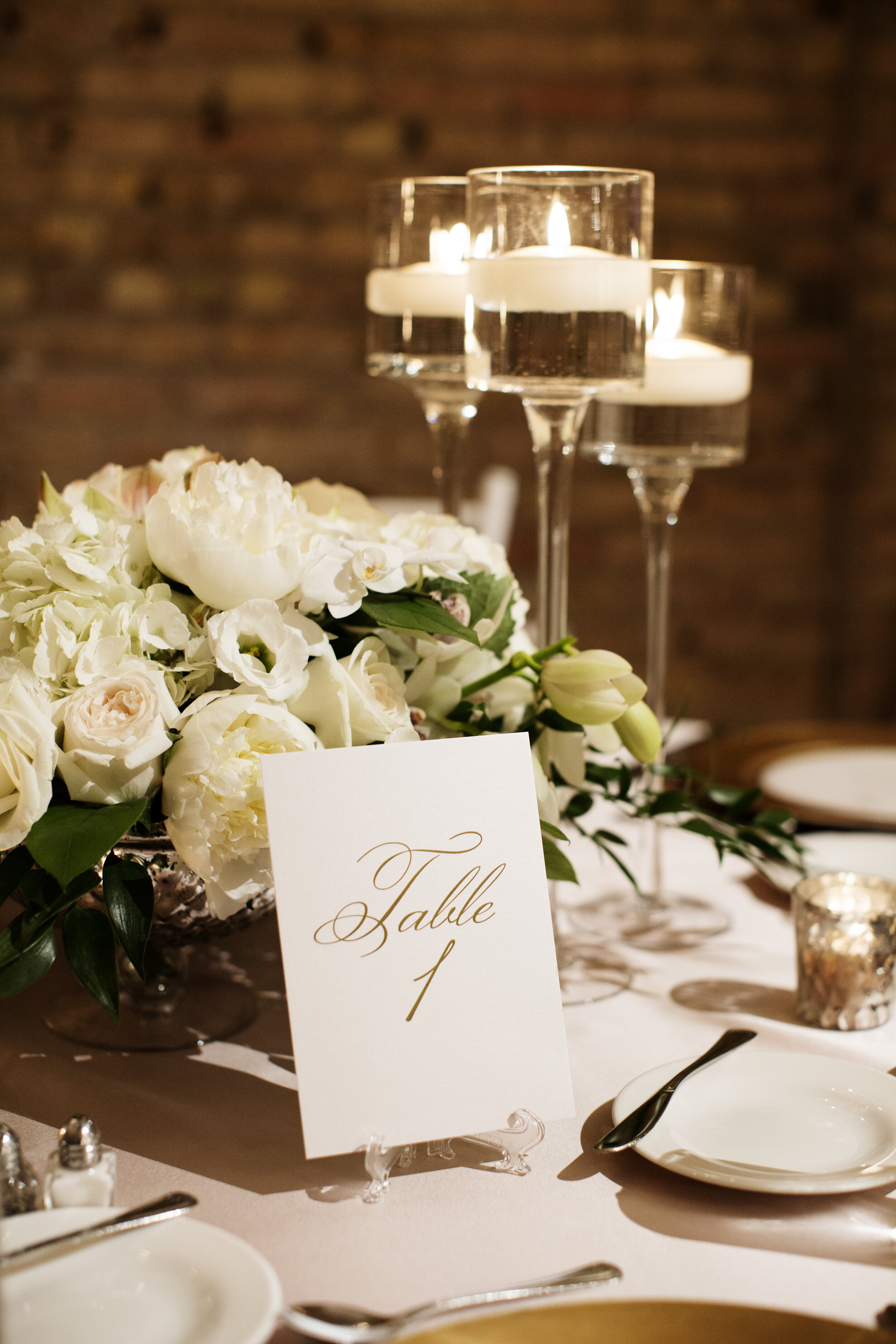 Wedding Tablescape Table Numbers