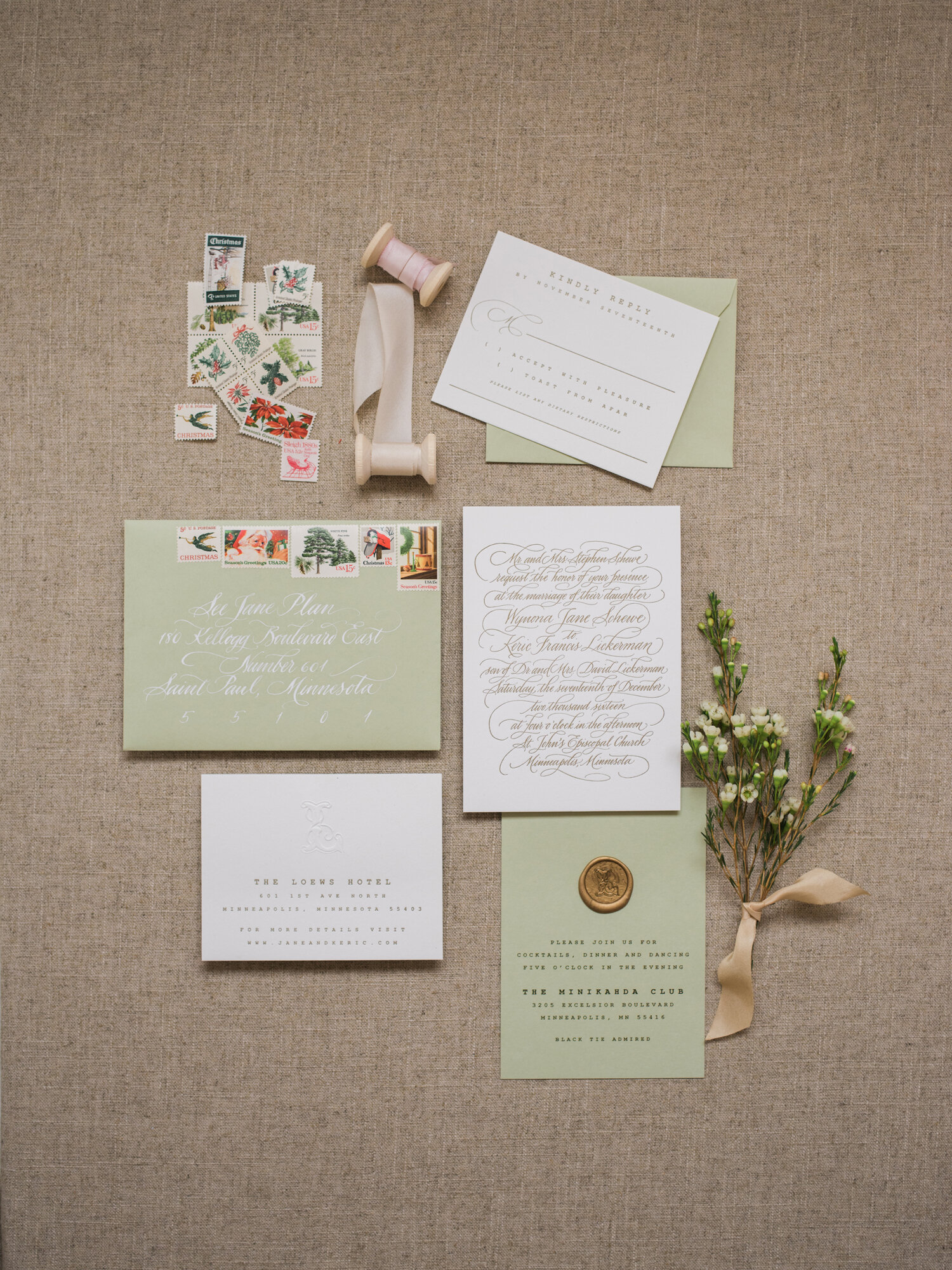 See Jane Plan Wedding Invitation Suite Photography by Liz Banfield