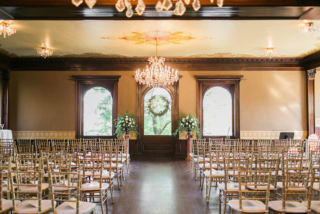 Semple Mansion Greenery and Gold Wedding Design