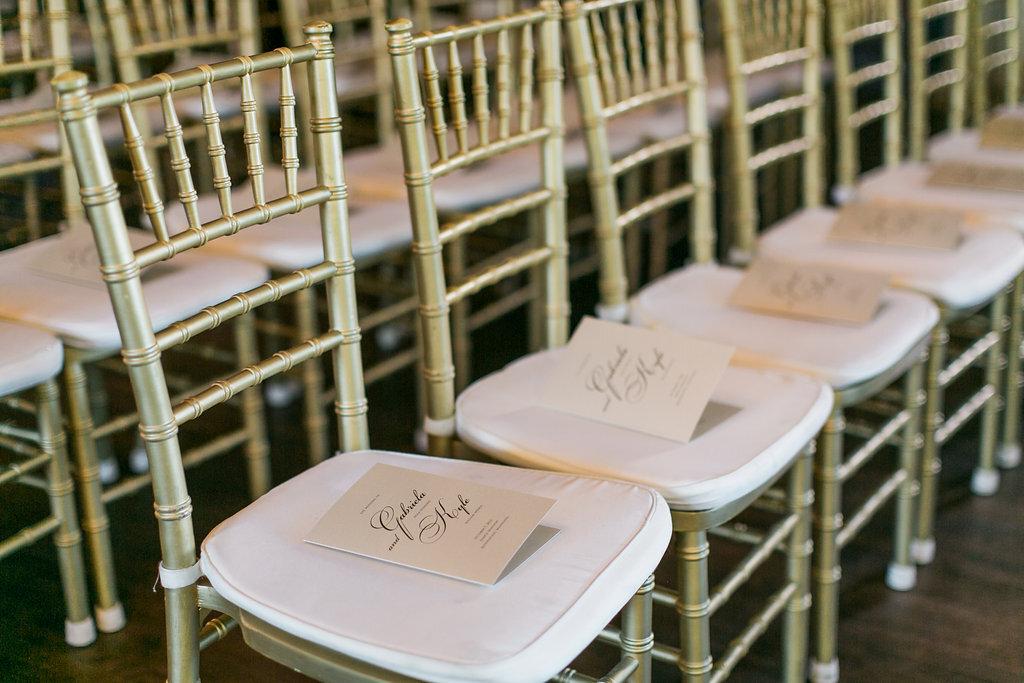 Booklet Wedding Programs Gold Ceremony Chairs Ceremony Programs