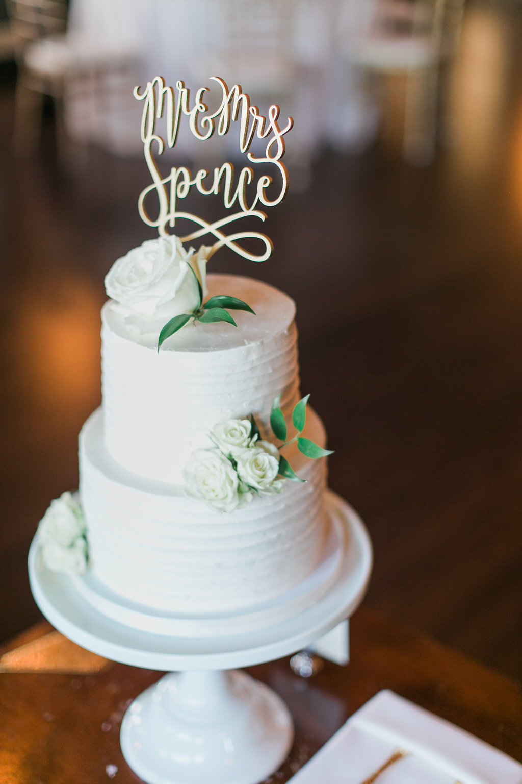 Farina Baking Company White Wedding Cake