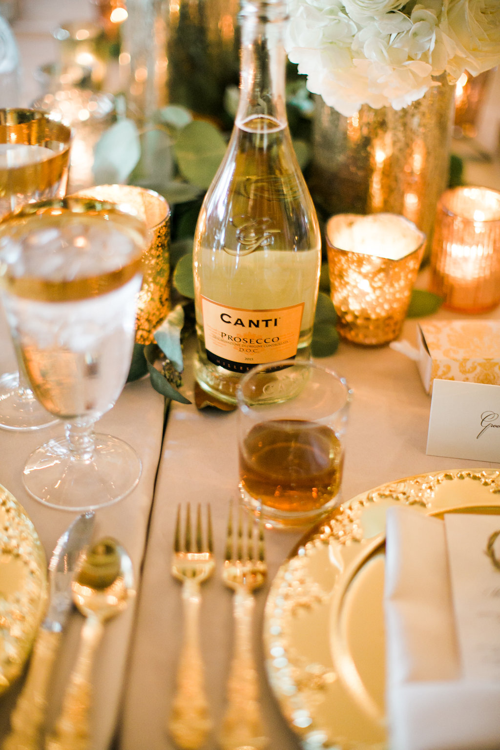 Gold Wedding Decor Gold Tablescape Luxury Wedding White and Gold Decor