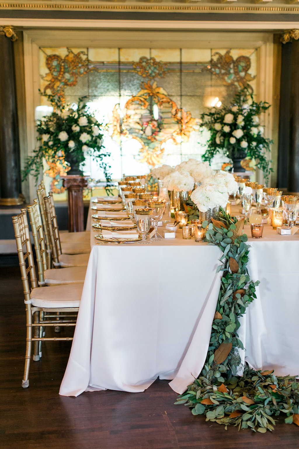 Luxury Wedding Tablescape Greenery Table Runner Sadies Floral