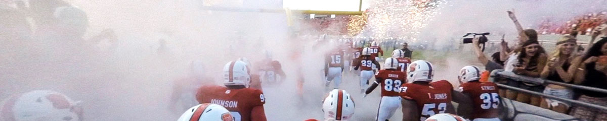 Hear the roar of the NC State Wolfpack Nation as they take the field. (click to view the video)
