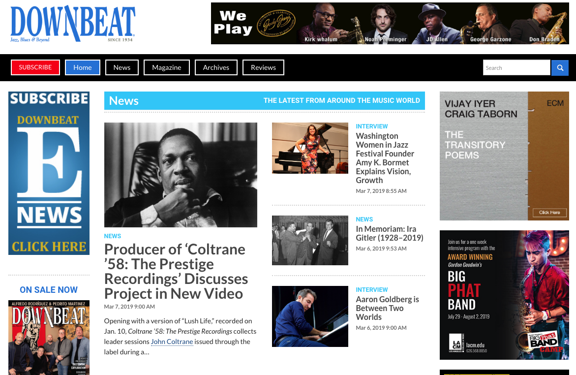 DownBeat Magazine premieres the video of  Nick Phillips discussing the COLTRANE '58 boxed set project :  http://downbeat.com/news/detail/coltrane-58-prestige-recordings