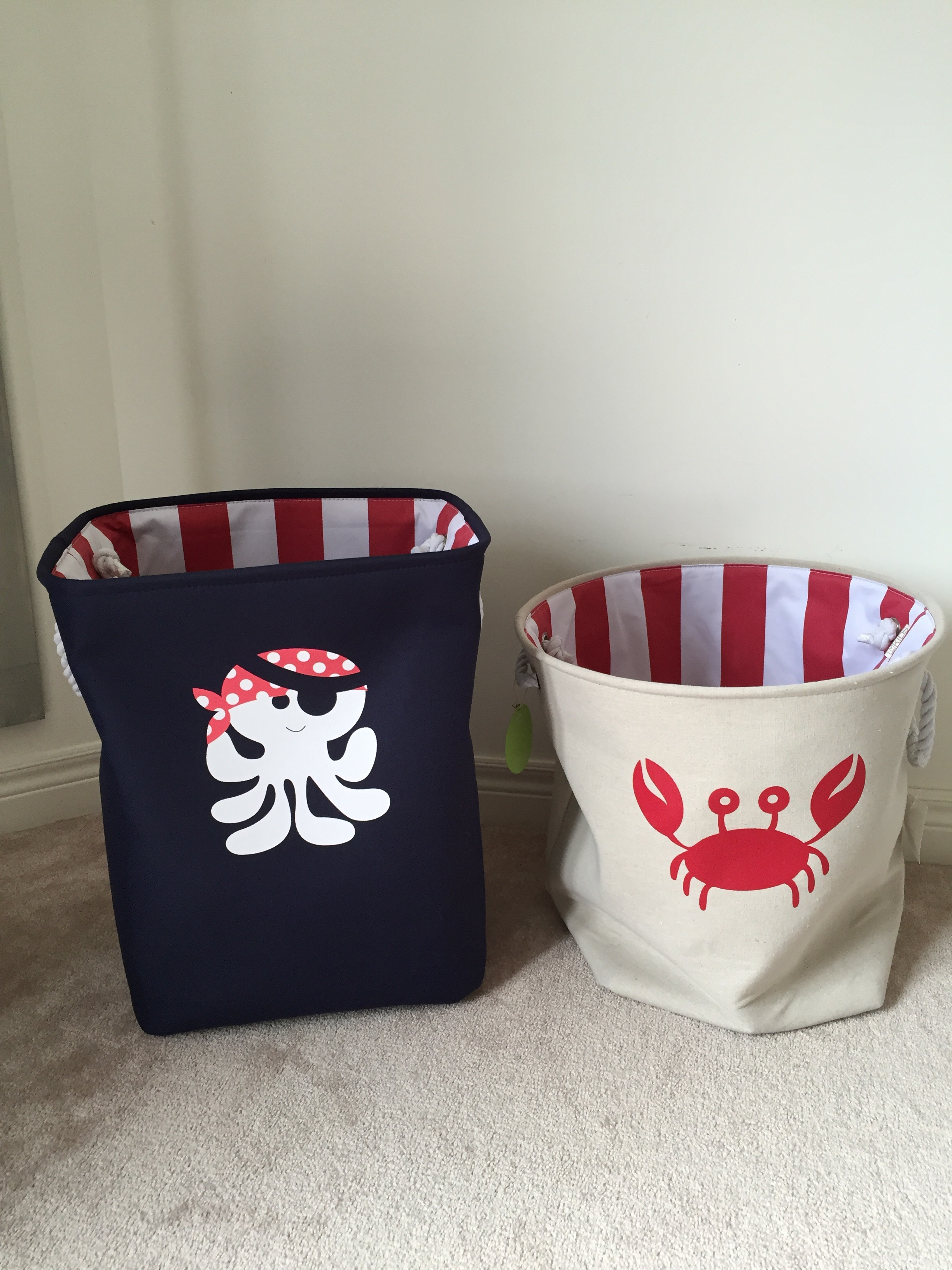 Baskets for laundry and toys from Homesense